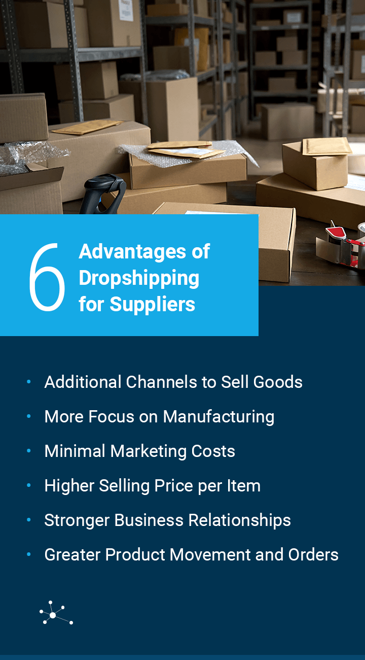 Advantages of dropshipping for suppliers