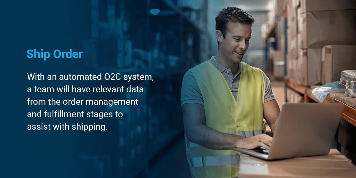 automated o2c shipping data