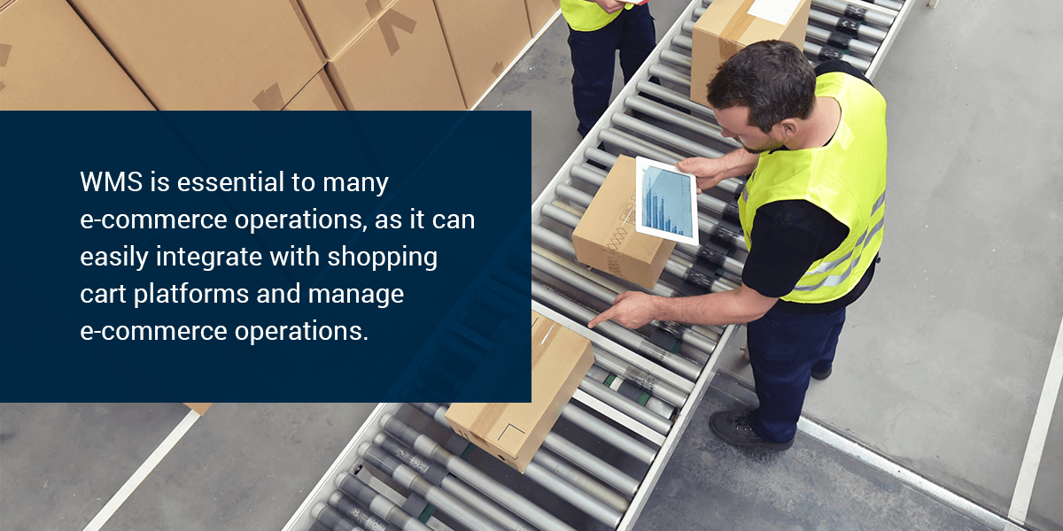 Warehouse Management System in Use