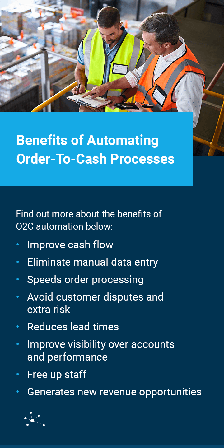benefits of automating cash to order processes